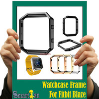 Wholesale For Fitbit Blaze Accessory Watch List Box Watch case Frame Holder Case Cover Metal Band For Fitbit Blaze Smart Watch