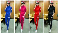 Wholesale 2016 women new printing long sleeved casual sportswear piece collar Slim thin track suit