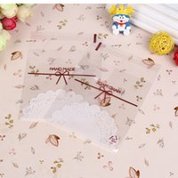 Wholesale New Lace Self Adhesive Cookie Candy Package Gift Bags Cellophane Birthday Wedding Bag Decor