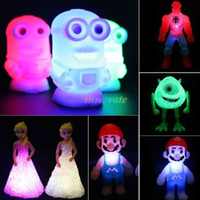 Wholesale Led changing night Light table Lamp decor Kids Toys Doll Toy Kids Gift