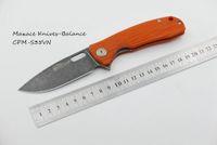 balance blades - Maxace Balance Liner Lock Knife Orange G quot Smokewash S35VN