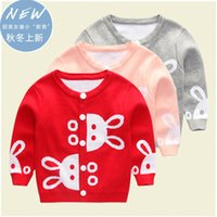baby jacket knitting pattern - Cute Autumn Winter Rabbit Baby Girl Sweater Print Fashion Baby Girl Cardigans And Jackets Knit Patterns Pull Fille Enfant