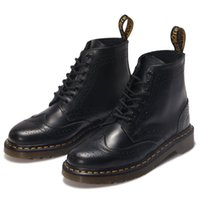 best dress boots - Full Grain Leather Martin Boots Holes Antiskid Leisure Ankle Boots Best Quality Classic Women Men Dress Shoes