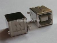 Wholesale 20pcs USB B type pin degree vertical jack female socket connector for printer solder plug