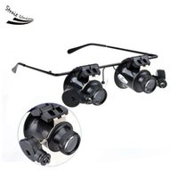 Wholesale New Watch Repair Glasses Magnifier Loupe X With LED Light F