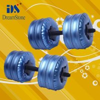 Wholesale New Model Fitness Equipment Water Filled Dumbbells pairs bags hands handle adjustable dumbbell