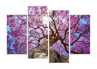 art painting with wood frame - Cherry blossoms painting Wall Art Printed On Canvas Wall Pictures For Living Room set with wood frame ready to hung F