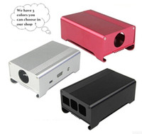 Wholesale Raspberry Pi aluminum case Raspberry pi B metal case with small fan