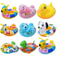 beaches modeling - 2016 Summer Water Toys Swim ring seat Various sizes Inflatable Swimming Ring Beach toys Animal modeling swimming ring Swimming pool toys