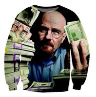 bad drops - Mr Heisenberg breaking bad make money dollars Crewneck sweatshirt d women men pulloverm fashion hoodie style Drop shipping