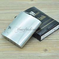 Wholesale 7 oz Fedex DHL Free stainless steel hip flask alcohol flask pocket flask wine flask liquor flask Z255