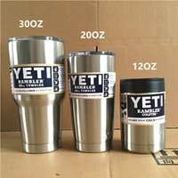 beer mug sports - YETI Cups oz oz oz Yeti Rambler Tumbler Beer Cups Stainless Steel Insulated Cup Cars Sports Travel Vehicle Mug Double Wall Bilayer