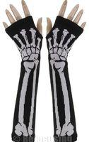 Wholesale Hot marking pc Newly design Unisex Punk Skull Black Halloween Long Arm Warmer Fingerless Dress Gloves
