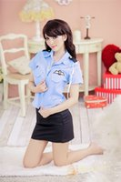 Wholesale 2016 Police officer Sexy Sets Emphasis lingerie Costumes pieces Clothes tie hat Clubwear Cosplay Sleepwear Uniform String Erotic men