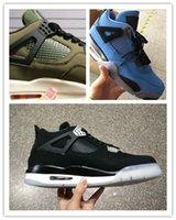 best denim fabric - Air IV Retro x Eminem x Carhartt Denim Undefeated Encore Blue Olive Basketball Shoes Best Quality Version Size