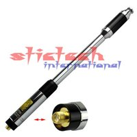 Wholesale 50pcs RH770 Dual Band MHz High Gain SMA F Telescopic Handheld Radio Antenna for Kenwood TK UV R