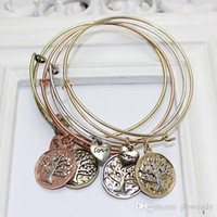 bangles with charms - Vintage Alex and Ani DIY Bangle Charms Pendant with life tree expandable bracelet woman jewelry