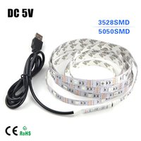 art supplies dc - Non waterproof Tape USB RGB Power Supply LED Strip SMD cm DC V For TV Background Lighting Book Light