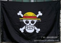 banner animations - 2x3 ft One Piece straw hat pirates trumpet banner of custom props COSPLAY animation around pirates flag size X90CM