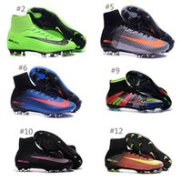 ankle boots spike - 2016 New OrigINal mens ACC MaGIsta Soccer shoes High Ankle football Boots HERITAGE SuPERfly IV V MerCURial FG CR7 cleats shoes HypeRVEnom