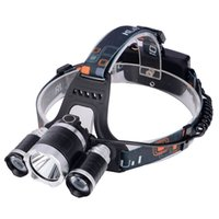 Wholesale 2016 New T6Headlamp Lumens x Cree XM T6 R5 Lamp LED camping Headlamp Headlight with rechargeable battery charger