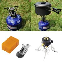bbq tool case - Portable Outdoor Picnic Gas Burner Foldable Camping Steel Stove Case Outdoor Picnic Cookout BBQ Gas Cooker Tools Steel Stove Case Cooker