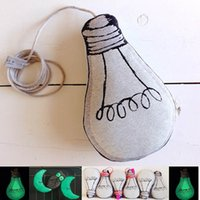 baby bedroom accessories - Lamp Bulb Model Baby Pillow Baby Head Support Nest Pillow Night Luminous Accessories for Toddle Bedroom Cushion D05X35