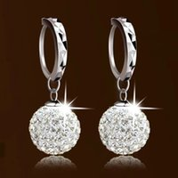 american discount store - New Store Discount new product spherical crystal earrings Shambhala diamond stud earrings silver earrings s925 silver crystal earring