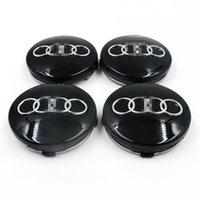 Wholesale 4 Gray Black Car Wheel Center Hub Cap Emblem Badge mm for AUDI B0601170