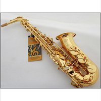 best selling musicals - Best Selling French Henri Selmer Paris Alto Saxophone E Flat Electrophoresis Gold Saxe Top Musical Instrument