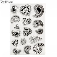 Wholesale Sheet Silicone Clear Transparent Stamp Seal Mixed Heart Pattern DIY Scrapbooking Album Card Making Hand Account Decor Supplies