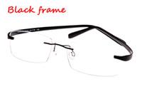 Wholesale Rimless Glasses memory titanium frame flexible men s eyeglasses glasses prescription spectacle optical frame TR90 super elastic leg