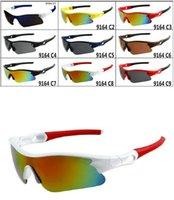 achat en gros de soleil de sport google-Lunettes de soleil de cyclisme de lunettes de soleil de style des nouveaux hommes d'arrivée d'été Lunettes de soleil de cyclisme de lunettes de soleil de sport de Google La couleur de mélange de lunettes!