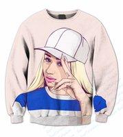 azalea size - Real USA Size Iggy Azalea D Sublimation print Crewneck Sweatshirt fleece unisex custom made streetwear plus size