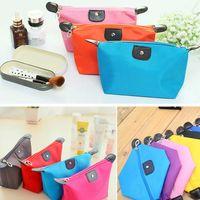 Wholesale 10 Colors Cosmetic Bags Waterproof Nylon Makeup Bag Foldable Travel Bag Cosmetic Fashion Storage Bags Women Handbag