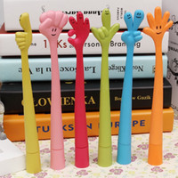 bent pens - YZ09 Korea creative stationery student prizes Cute cartoon ball pens children feel free to bend Hand signal penSilicone material pen