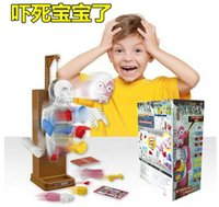 bamboo fiberglass - New Funny Toy Novelty Gag Toys Trick Joke Gift For Children assembled toy Fun Games the terrorist human body model D puzzles