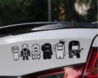 atv windshield - brand new Domo kun stickers reflective windshield decals Domo Cartoon six designs car stickers for motorcycle ATV