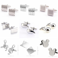 Wholesale tie clips cufflinks metal style factory direct sales of men s shirts mens Cufflinks for mens