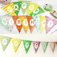 baby bunting pattern - 2 M different patterns Banners Personality Wedding Bunting Decor Vintage Party Birthday Baby Show Garland Decoration