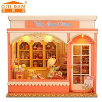 Wholesale Home Decoration Crafts DIY Doll House Wooden Doll Houses Miniature dollhouse Furniture Kit Room Cute Room DIY Gift E002
