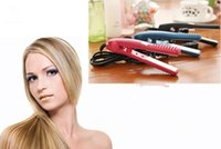 Wholesale New Arrive Mini Portable Hair Straightener Iron Pink Ceramic Electronic Titanium Straightening Corrugated Curling Iron Flat Styling Tools