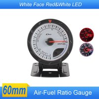 Wholesale Air Fuel gauge MM Air Fuel gauge WHITE Face with Red White Lighting car auto gauge tachometer car meter
