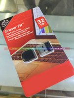 Wholesale DHL GB Cruzer Fit CZ33 Mini USB Flash Drives Pen Drives Perfect fit for Notenooks Tablet TVs PC and Car Audio
