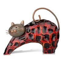 Wholesale Tooarts Metal sculptrue Iron sculpture Abstract sculpture Lazy cat Animal sculpture Crafting Home furnishing articles Decoration Art A020