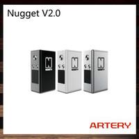 Artère Nugget V2 50W TC Box Mod avec Built-in 1000mAh 18350 Mobile Nugget V2.0 Box Mod Meilleur résultat avec Trace Sub Ohm Réservoir 100% Original