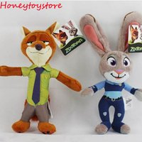 big nick - 2016 Zootopia Movie Plush Rabbit Judy Hopps and Fox Nick Wilde Kids dolls cm stuffed toys Zootopia Dolls Accessories Gift