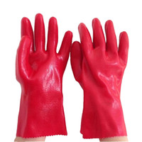 acid resistant gloves - 30cm Acid And Alkali Resistant Glove Corrosion Preventive Safety Glove For Oil Related Workers PVC Working Gloves