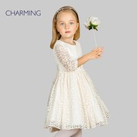 best shirt supplier - Brand new lace long sleeve dress Designer children clothing High quality round neck long sleeved dress Best suppliers from china