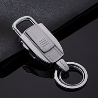 Wholesale Jobon Key Chains USB Lighters Key Ring USB Cigarette Lighters Gift Keychains USB Lighters Heating Wire Ignition